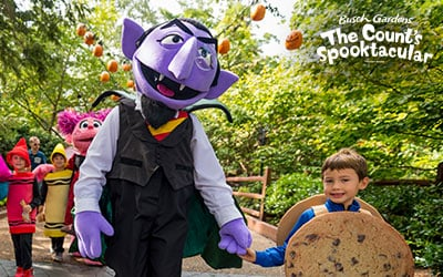 Bring your kids for safe trick-or-treating at Busch Gardens