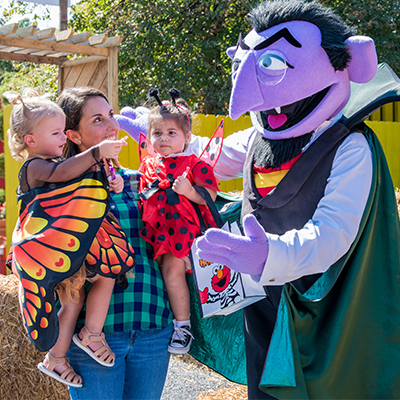 Kids can enjoy family-friendly Halloween fun at The Count's Spooktacular, including a kiddie hay maze