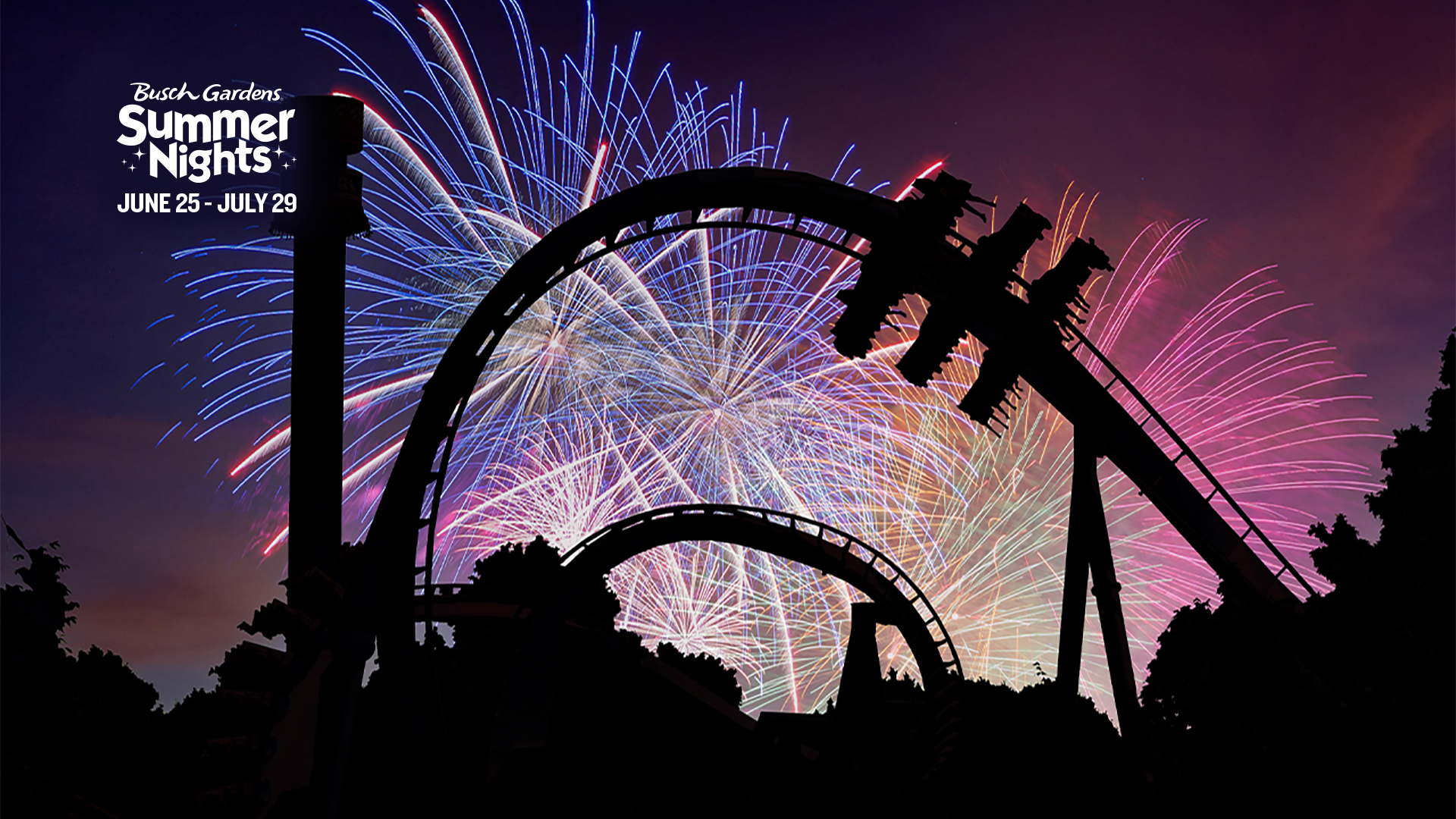 Summer Nights Fireworks Conferencing Background Preview