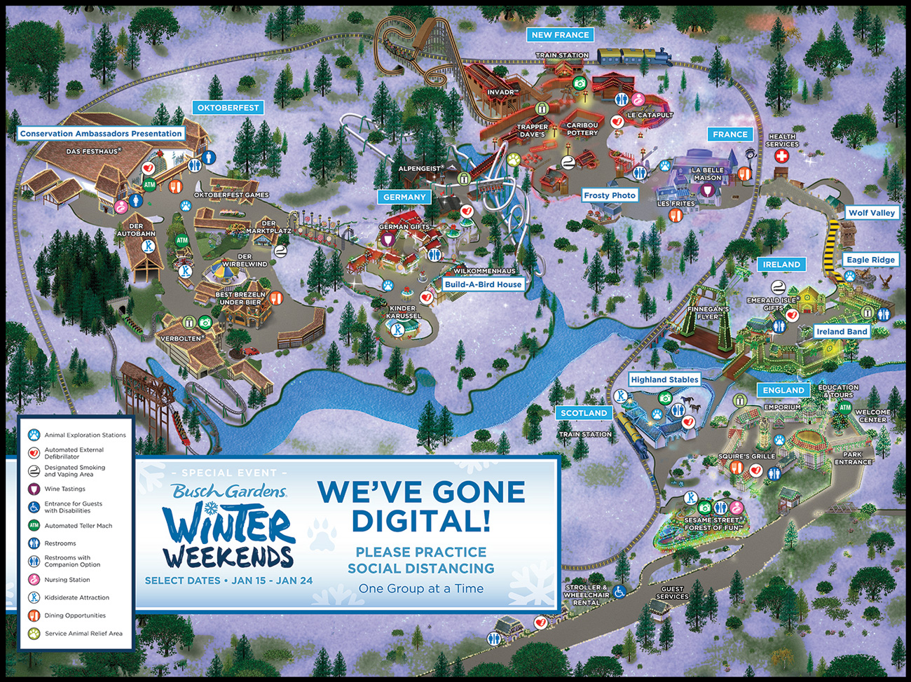 Busch Gardens Williamsburg printer-friendly map