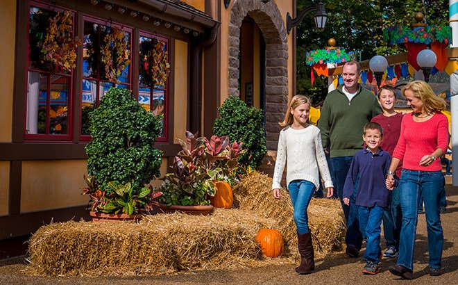 Enjoy fall decor during the day and frightful scares at night
