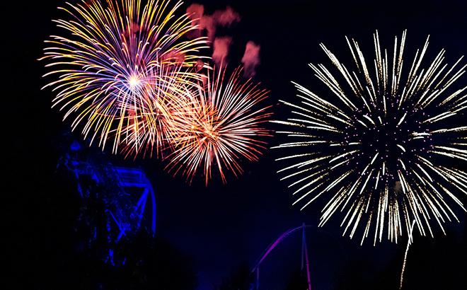 Fireworks at Busch Gardens