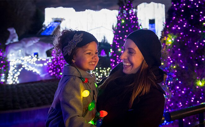 Virginia Christmas light displays at Busch Gardens