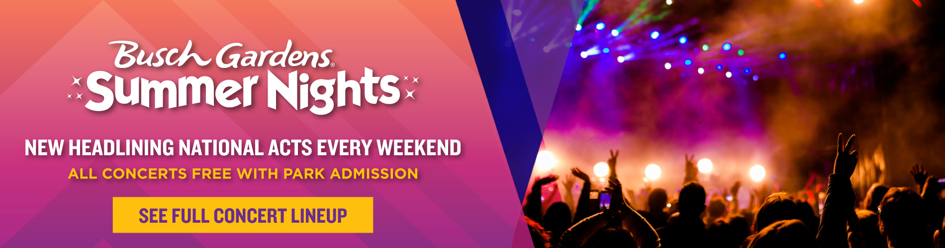 Headlining National Acts Every Weekend During Summer Nights