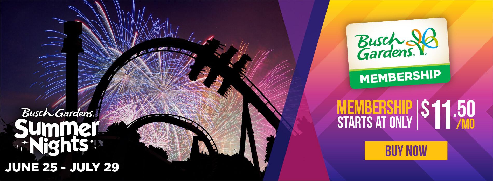 Busch Gardens Williamsburg Summer Nights Membership