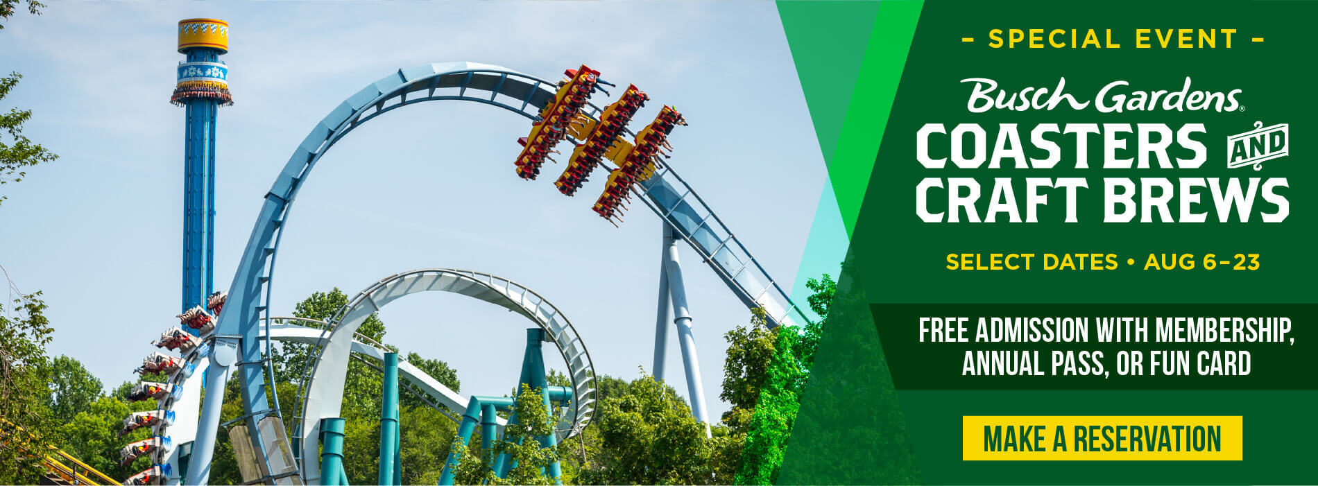 Busch Gardens Williamsburg Coasters and Craft Brews Special Event