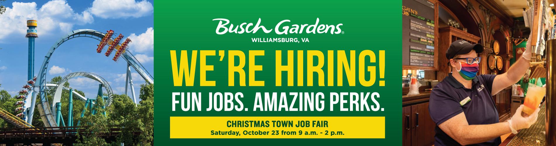 Busch Gardens Williamsburg Job Opportunities