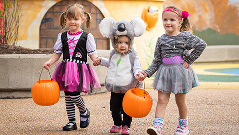 Kids under 9 can dress up in Halloween costumes