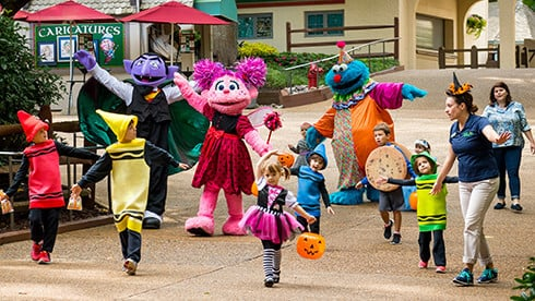 Kids' Halloween parade at The Count's Spooktacular