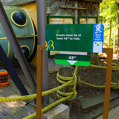 Height Check Stations at Busch Gardens in England