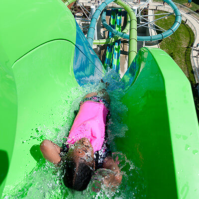"Thrilling slides for riders 48"" and taller"