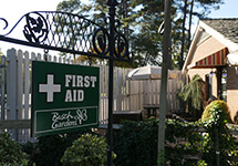 First Aid Stations and mobile units are available