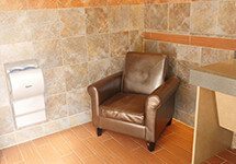 Nursing rooms for mothers available