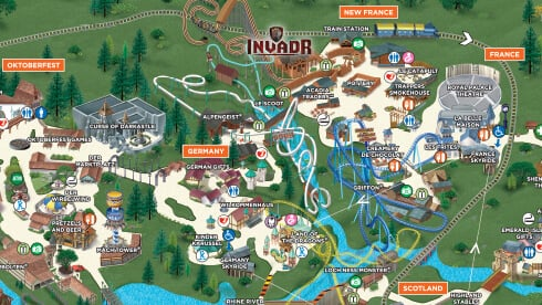 Find your favorite thrill rides, kid-friendly attractions, dining locations and more