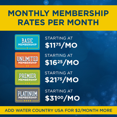 Monthly Membership Rates