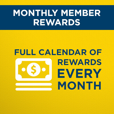 Members get exclusive rewards every month