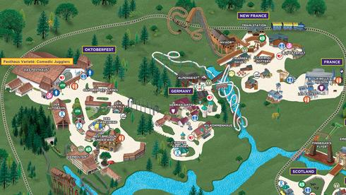 Busch Gardens Williamsburg Park Map