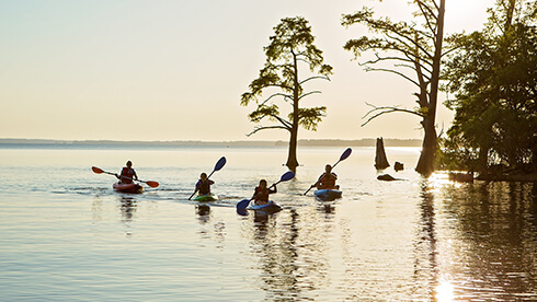 Take to the water with kayaking, canoeing, swimming and much more