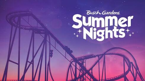 Summer Nights event at Busch Gardens