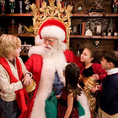 Visit Santa Claus and his elves at Santa's Workshop