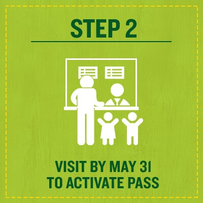 Activate Preschool Pass at the park by May 31