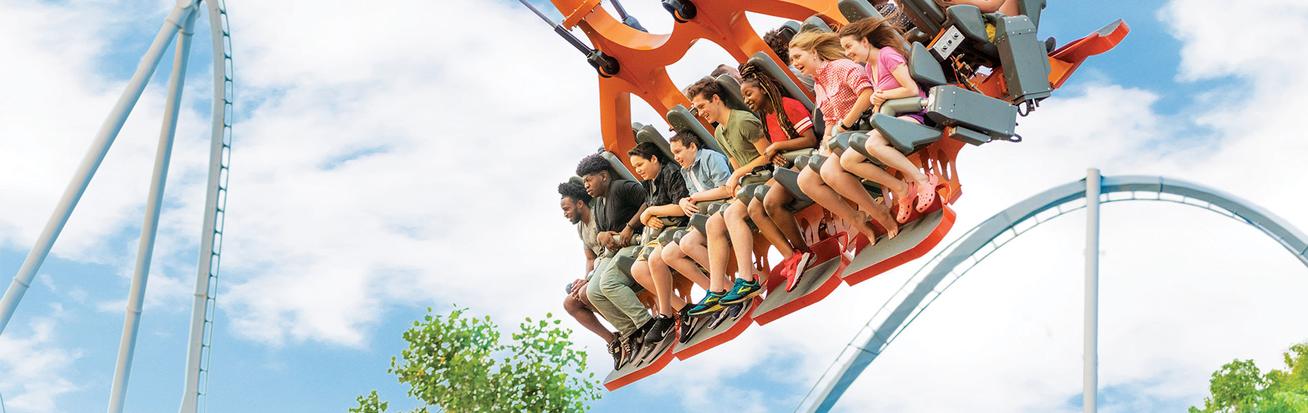 Now Open - Finnegan's Flyer, extreme screaming swing at Busch Gardens Williamsburg