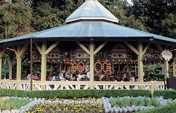 Kinder Karussel family carousel at Busch Gardens Williamsburg