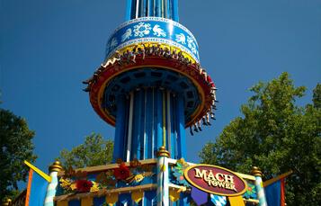 Mach Tower drop tower at Busch Gardens Williamsburg