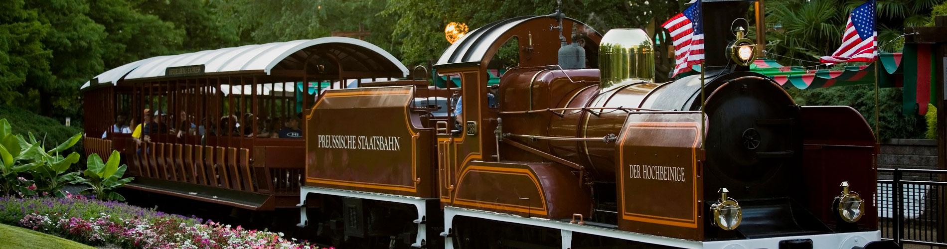 Busch Gardens Railway - Train ride around the park