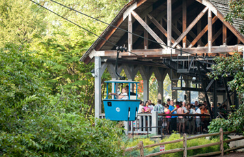 Aeronaut Skyride cable car at Busch Gardens Williamsburg