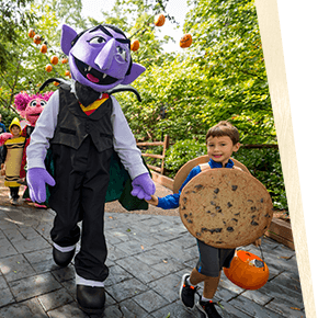 See Sesame Street® friends like the Count at The Count's Spooktacular