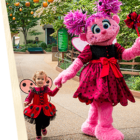 See Sesame Street® friends like the Abby Cadabby at The Count's Spooktacular