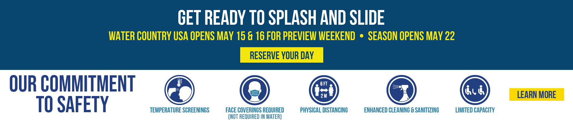 Get Ready to Splash & Slide! Water Country USA Opens May 15 & 16 for Preview Weekend.