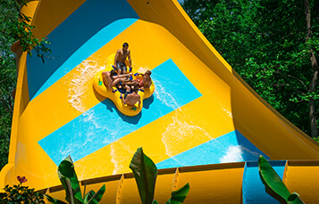 Colossal Curl water slide at Water Country USA located in Williamsburg, VA