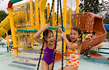 H2O UFO kids' water playground at Water Country USA