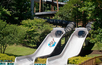 Malibu Pipeline water slide at Water Country USA