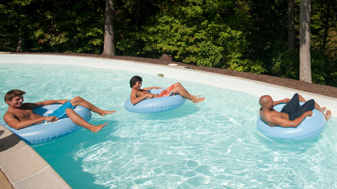 Rambling River lazy river in Rock 'n' Roll Island at Water Country USA