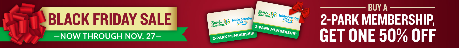 Busch Gardens Williamsburg & Water Country USA Black Friday Sale