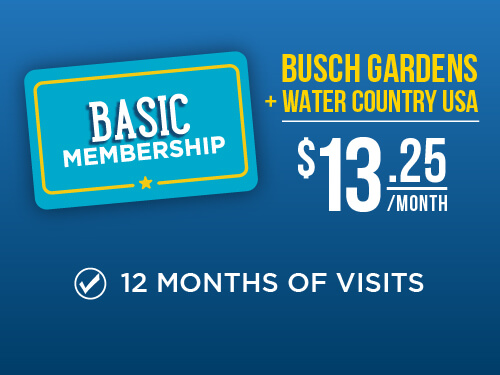 Busch Gardens Williamsburg & Water Country USA 2021 Membership
