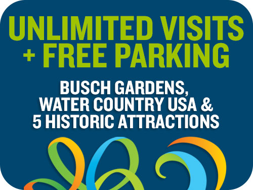 Busch Gardens Williamsburg & Water Country USA Flex Ticket