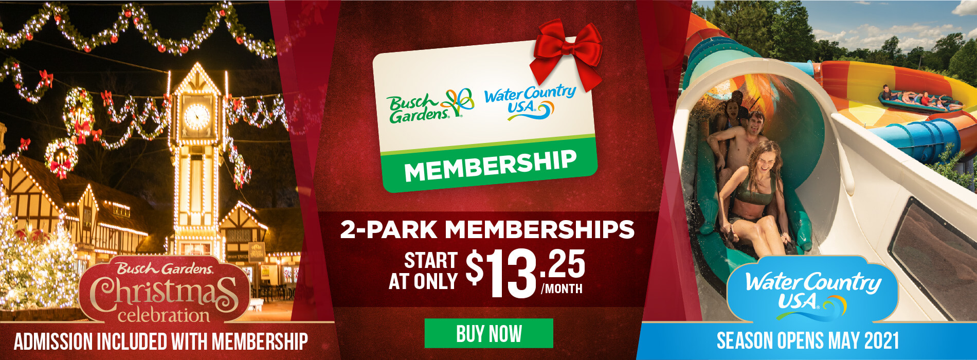 Busch Gardens Williamsburg & Water Country USA Membership