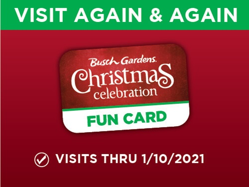 Busch Gardens Williamsburg Christmas Celebration Fun Card