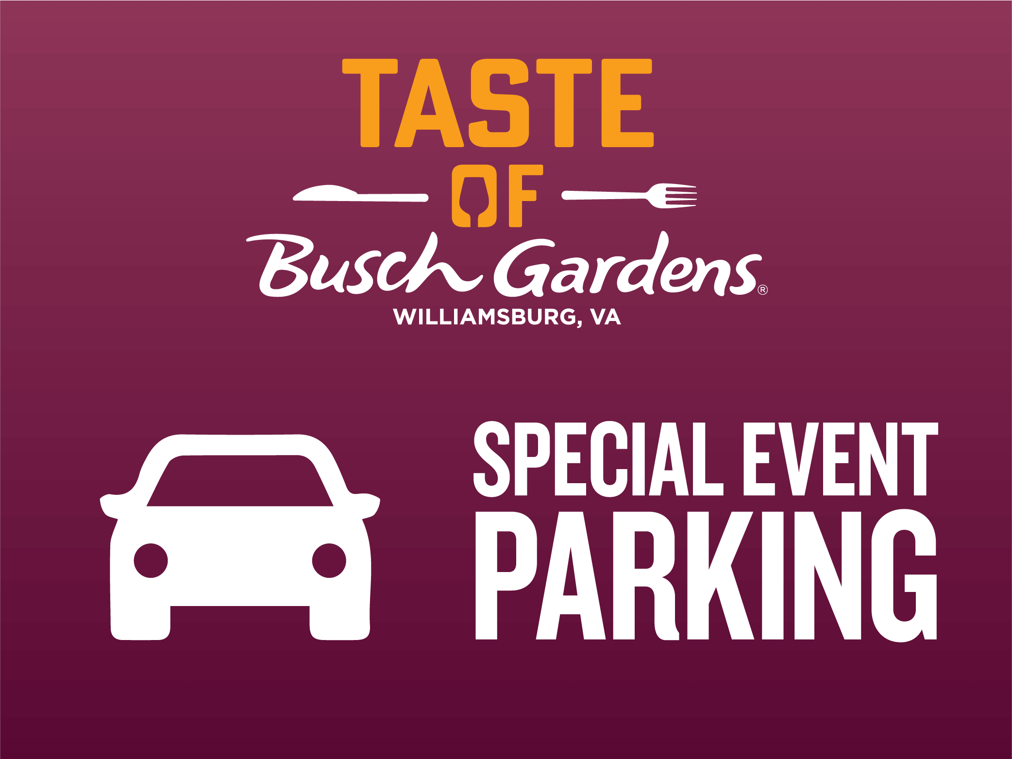 Taste of Busch Gardens Williamsburg Special Event Parking