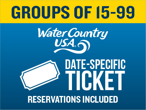 Water Country USA Group 1-Day Ticket