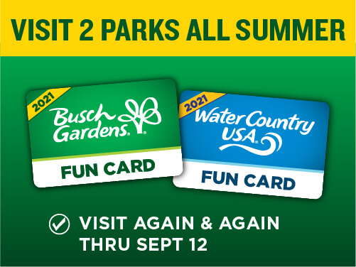 Busch Gardens Williamsburg Fun Card