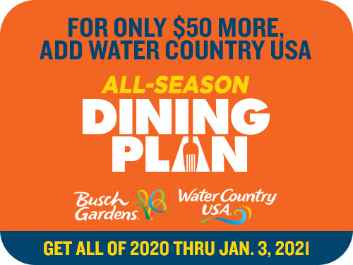 Busch Gardens Williamsburg & Water Country USA 2-Park All-Season Dining
