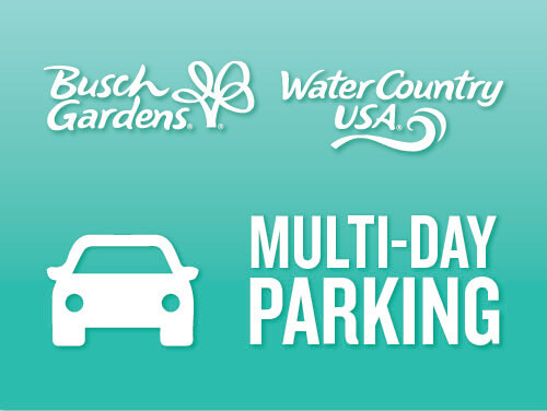Busch Gardens & Water Country USA Multi-Day Parking is less than $7 a day