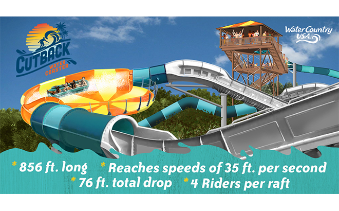 Cutback Water Coaster coming to Water Country USA in 2019