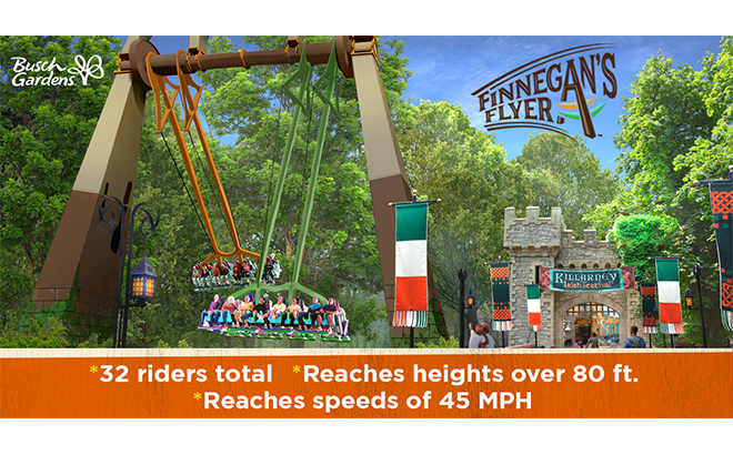 Finnegan's Flyer coming to Busch Gardens in 2019