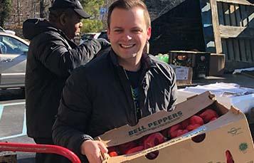 Busch Gardens donates food to Grove Christian Outreach